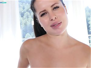 enticing stunner Cassie Fire is dousing raw in assfuck