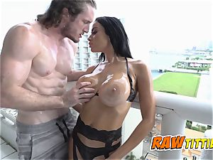 Victoria is lubricated up and screwed in doggystyle by wild fella