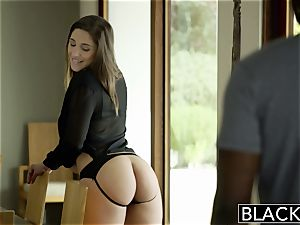 BLACKED hefty arse woman Abella Danger worships humungous dark-hued man rod
