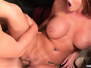 Sophie Dee gullet bangs this stiff pulsing spear