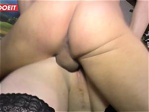 LETSDOEIT - obese girl Gets boinked hard On fuckfest tape