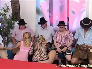 German bukkake gang-fuck party