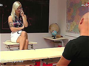 perverted schoolgirl disciplined by stringent German lecturer