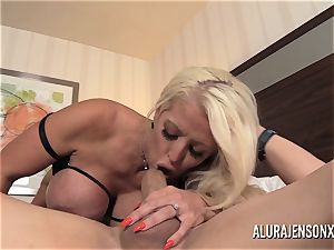 fat titty cougar Alura Jenson has her taut snatch punctured