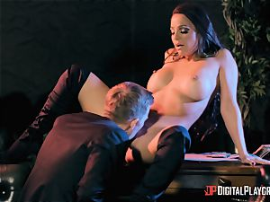 Abigail Mac takes on the monster man rod of Danny D