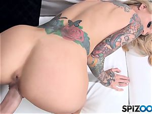watch Sarah Jessie take a ample dick inside her