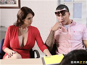 Charlee chase and Eva Karera school office 3some
