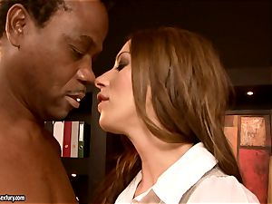 guiltless female Debbie white is punctured in the gullet with senior man fuck-stick