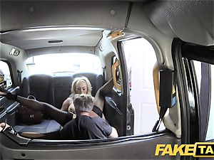 fake cab kinky milf wants a large bone inwards her