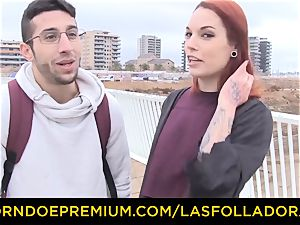 LAS FOLLADORAS - Silvia Ruby takes random man for bang-out