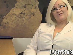 LACEYSTARR - GILF licks Pascal milky jizz after hook-up
