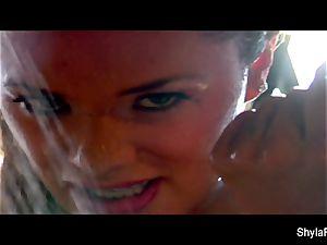 huge-boobed hottie Shyla Stylez gets moist and sloppy