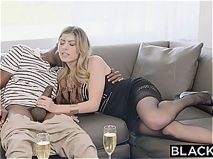Arab gal Audrey Charlize loves the taste of a bbc