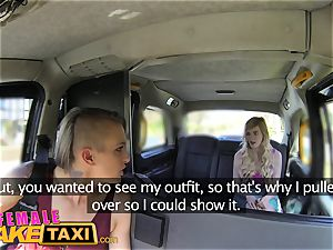 woman fake taxi lesbo appointment for posh college girl