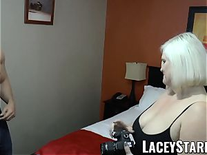LACEYSTARR - GILF tempts fat dicked otter into humping