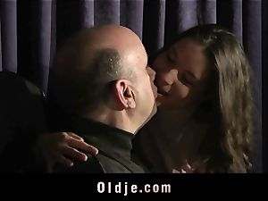 tight cool nubile slit fucked By senior step-father
