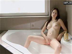 bathroom vignette with Anna Italyanka masturbating