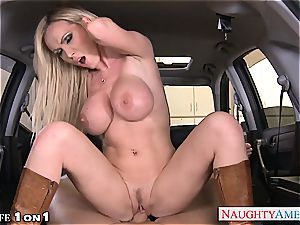busty housewife Nikki Benz take meatpipe in pov