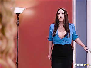 big-titted office 3 way