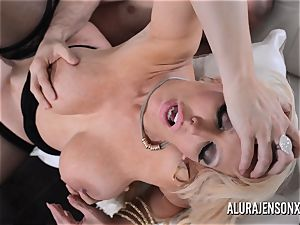 huge-chested platinum-blonde Alura Jenson likes a dude in uniform