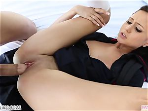 brutha pummels his younger step-sister Ariana Marie after lessons