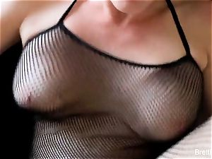 point of view ravaging act with big-boobed blond Brett Rossi