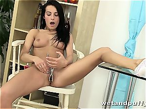 sensual Lexi Donna playthings and rubs her supple twat
