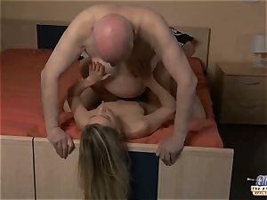 youthful secretary fucks aged boy chief plumbs splendid female
