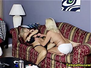 two nasty damsels with playthings