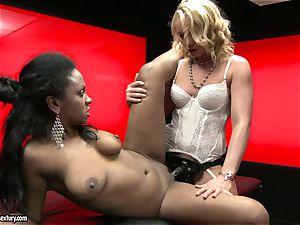 harsh Kathia Nobili shoves her strap on prick deep down her playmate hatch