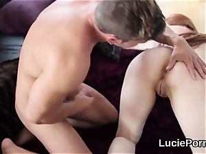 inexperienced lesbian lovelies get their pinkish twats ate and widened