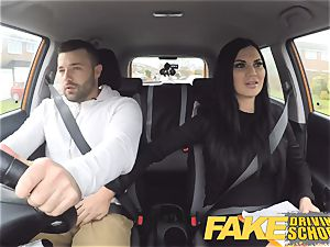 fake Driving college Jasmine Jae totally nude fuckfest in car