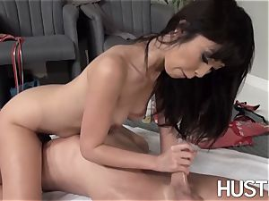 asian Marica Hase fed cum after massage poking