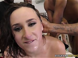 Ashley Adams Gets Her Face fiercely smashed by BBCs