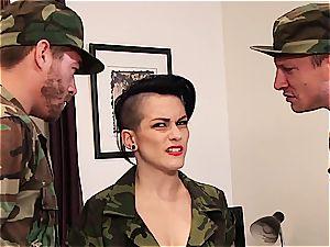 Joanna Angel smashing the army