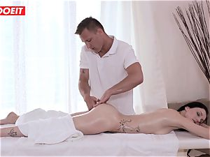 LETSDOEIT - Czech milf Gets manhandled on the massage Table
