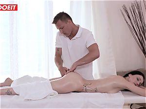 LETSDOEIT - Czech milf Gets manhandled on the massage Table