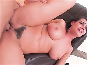 black-haired bombshell Charley gets a harsh penetrating