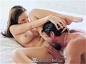 Passion-HD - Dillion Harper fingers her smoothly-shaven muff