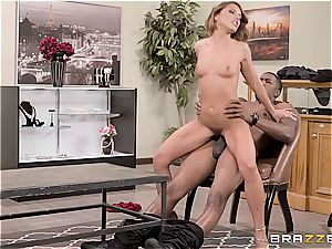 Adriana's labia gets slain by a massive ebony monster
