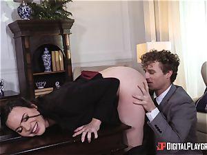 Dana DeArmond labia fucked in the office