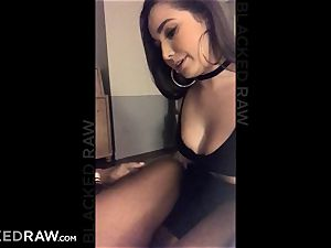 BLACKEDRAW Latina wifey bursts with 12 inch monster black stiffy