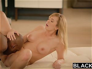 BLACKED Brett Rossi startled From Her Ex giant black chief Protects Her