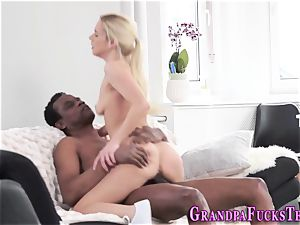 nubile blows dark-hued pole
