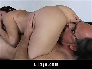 vicious nubile gal tears up aged realtor for discount