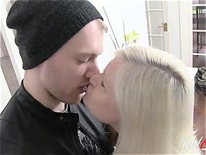 AgedLovE huge-chested Lacey Starr hard-core and blow-job
