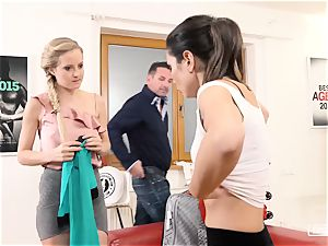 revealed audition - steamy audition with Italian pornographic star