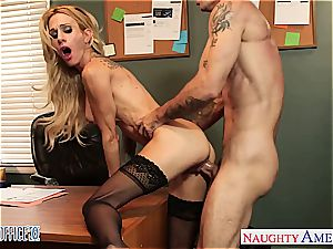 inked blond Sarah Jessie penetrate in the office