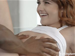 Adria Rae gets plumbed by her fresh trainer's big black cock