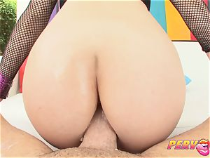 PervCity red Head multiracial buttfuck threesome